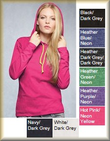 9e5f4f507be7 Anvil - Ladies' Lightweight Long Sleeve Hooded T-Shirt: Shoppers Rule