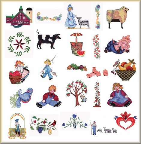 Folk Art Embroidery Design Collection On Cd Rom