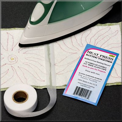 Heat Press Batting Together Tape To Join Batting pieces Together 10yds x 3//4 in