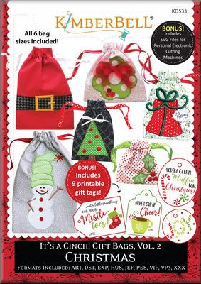 It S A Cinch Gift Bags Vol 2 Christmas By Kimberbell Designs